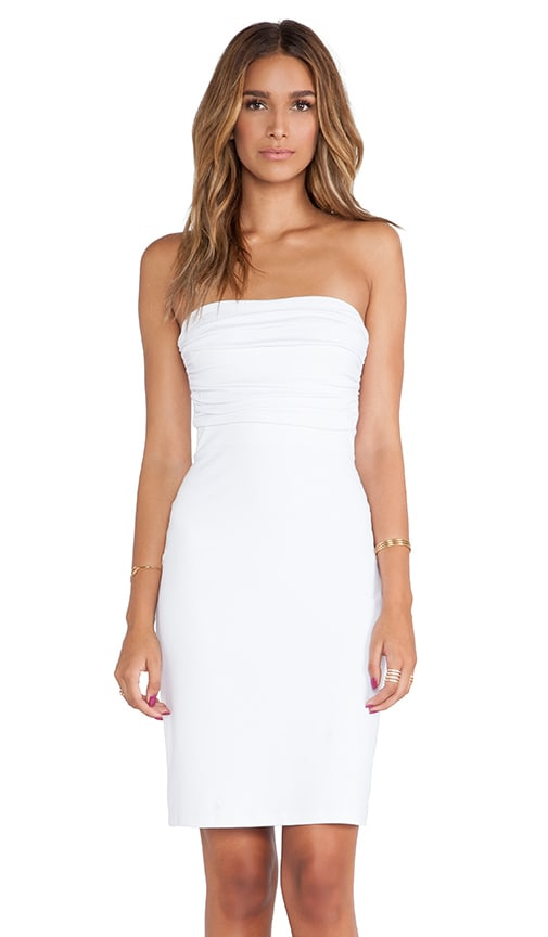 Strapless Rouched Dress