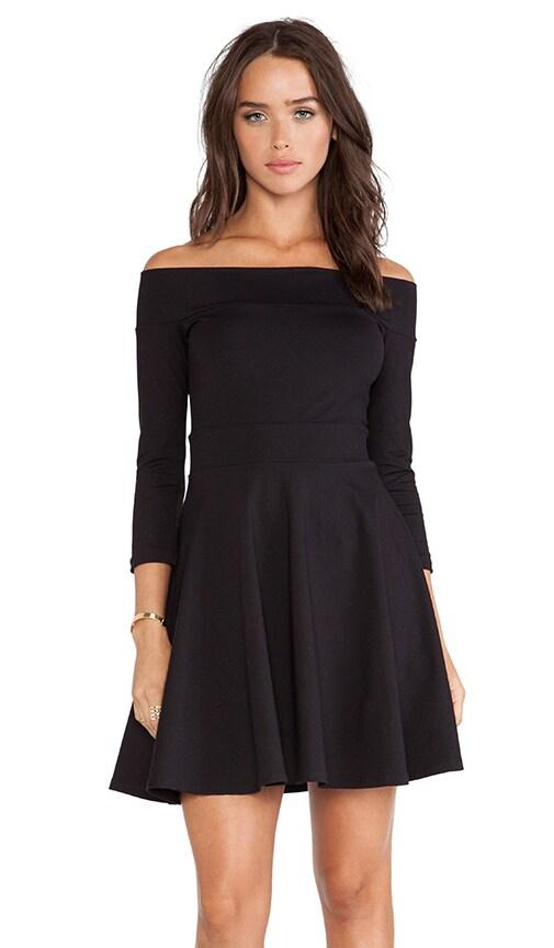 Off Shoulder Circle Skirt Dress