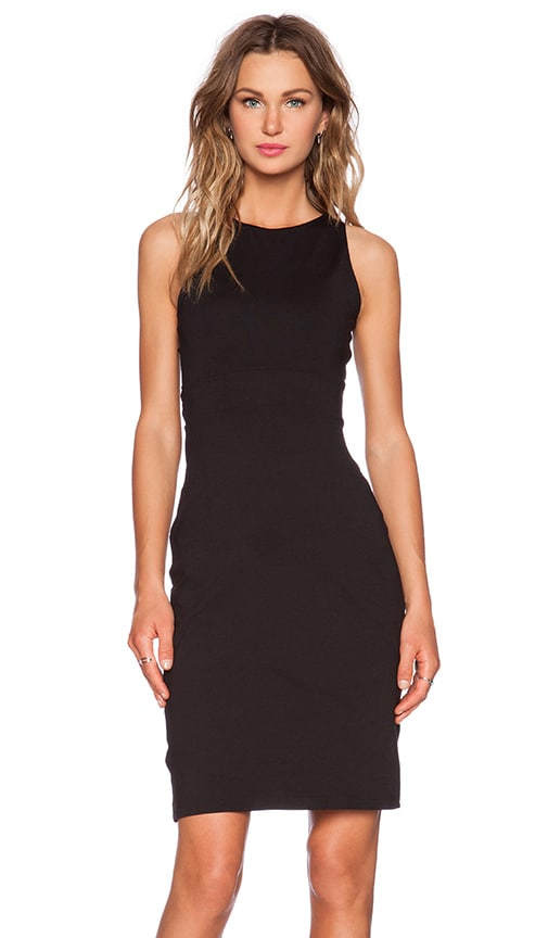 Susana Monaco Twist Back Midi Dress in Black