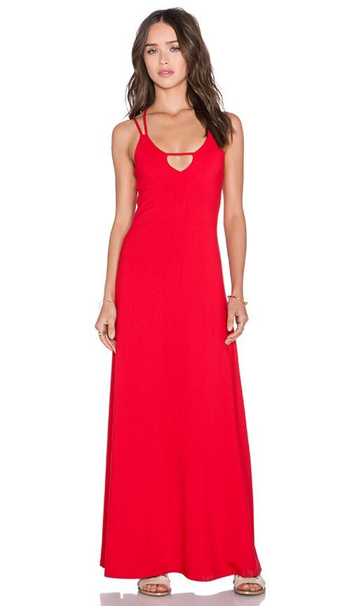 Susana Monaco Leona Maxi Dress in Perfect Red