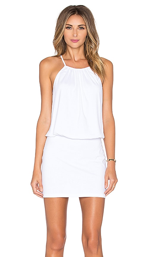 Susana Monaco Drape Mini Dress in White