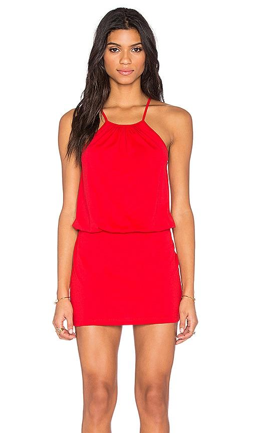 Susana Monaco Drape Mini Dress in Perfect Red