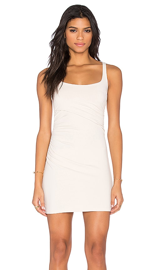 Susana Monaco Gather Tank Dress in Blanched Almond