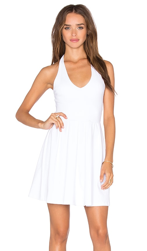 White Halter Neck Dress | REVOLVE