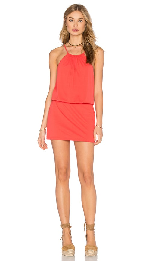 Susana Monaco Drape Mini Dress in Orange