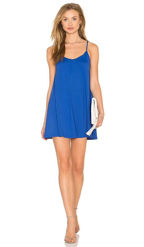 Susana Monaco Very V Drape Mini Dress in Blue