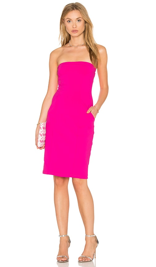 Susana Monaco Cameron Strapless Dress in Pink