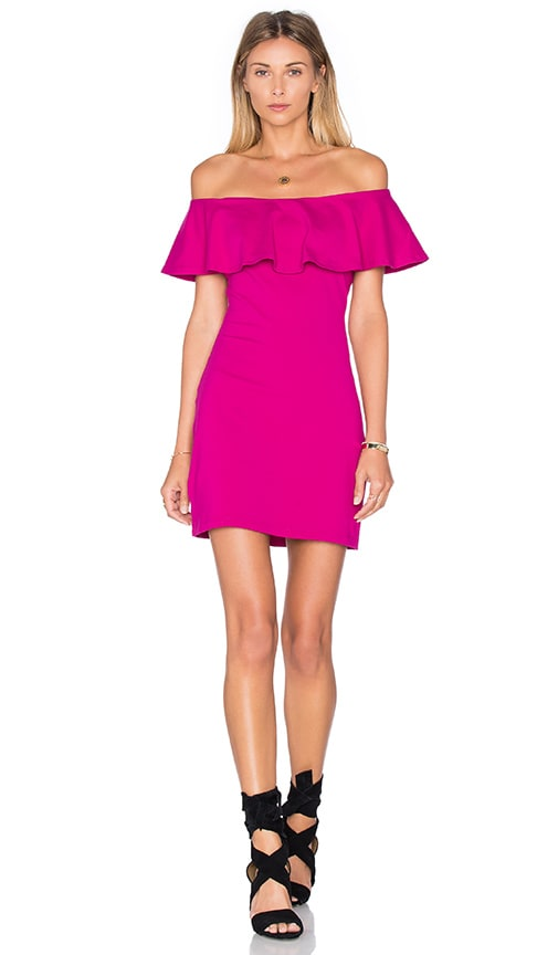 Susana Monaco Hannah Dress in Fuchsia