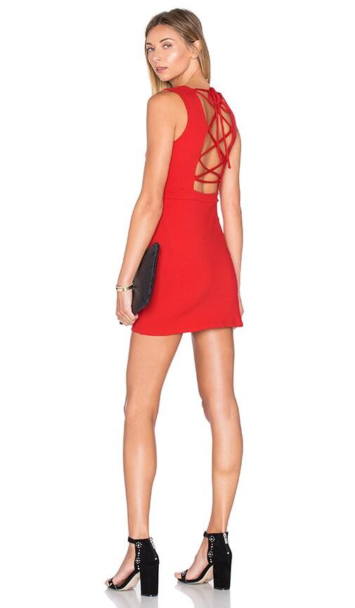 Susana Monaco Mini Percy Dress in Perfect Red