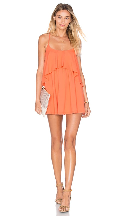 Susana Monaco Mini Dara Dress in Coral