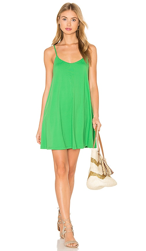 Susana Monaco Very V Drape Dress in Green
