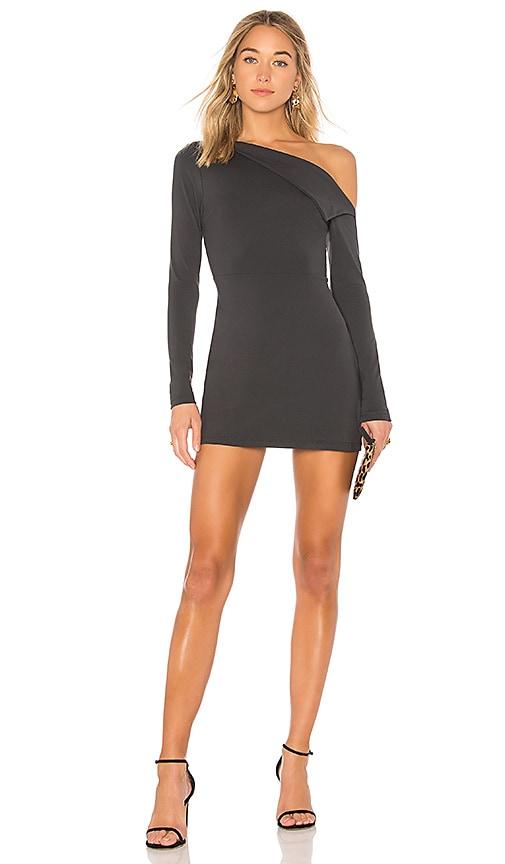 f8f885e2af4d Susana Monaco Off Shoulder Lapel Dress in Onyx