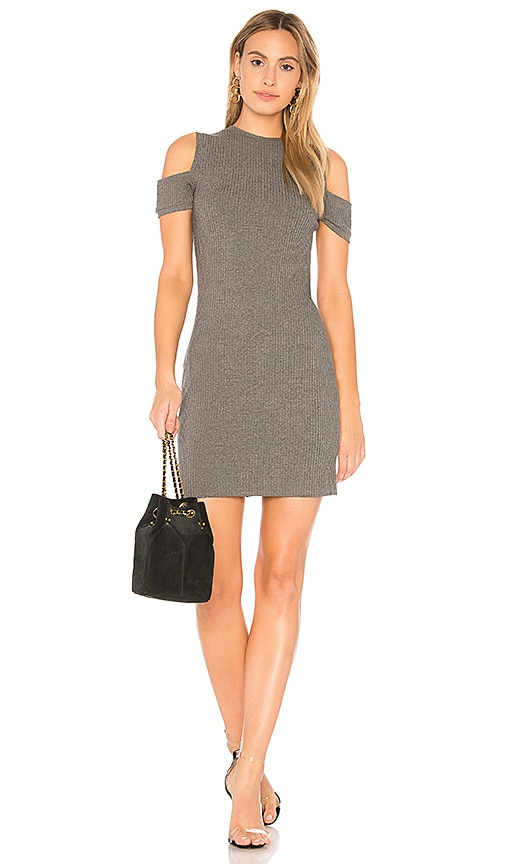Susana Monaco Kira Open Shoulder Dress in Gray