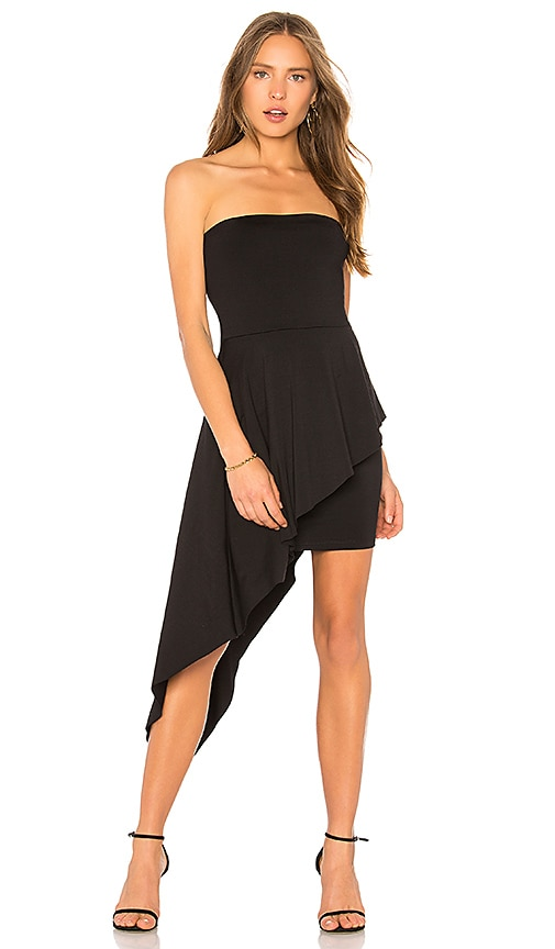Susana Monaco Strapless Overlay Dress in Black