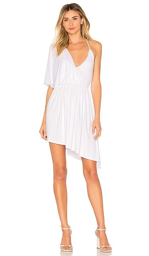 Susana Monaco Crossover Angled Dress in White