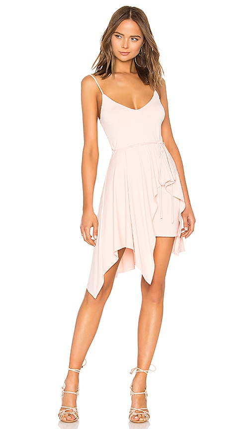Susana Monaco Uneven Hem Dress in Pink
