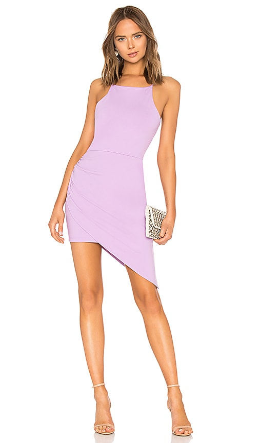 Susana Monaco Asymmetrical Dress in Purple