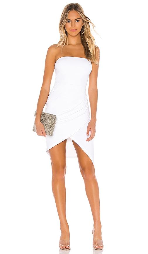 Strapless Side Pleat Dress