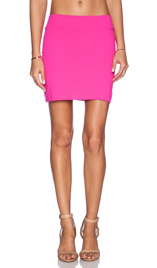 Susana Monaco Slim Mini Skirt in Pink