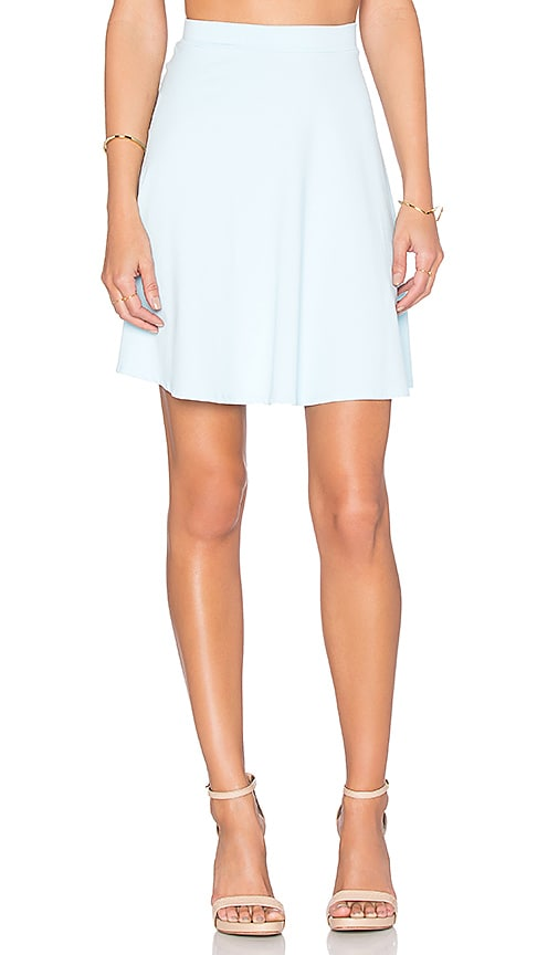 Susana Monaco High Waist Flared Skirt in Blue