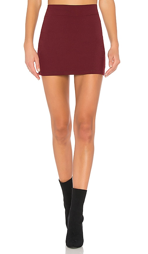 Susana Monaco Slim Skirt in Red