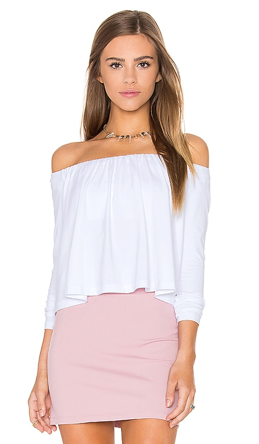 Susana Monaco Molly Off the Shoulder Top in White