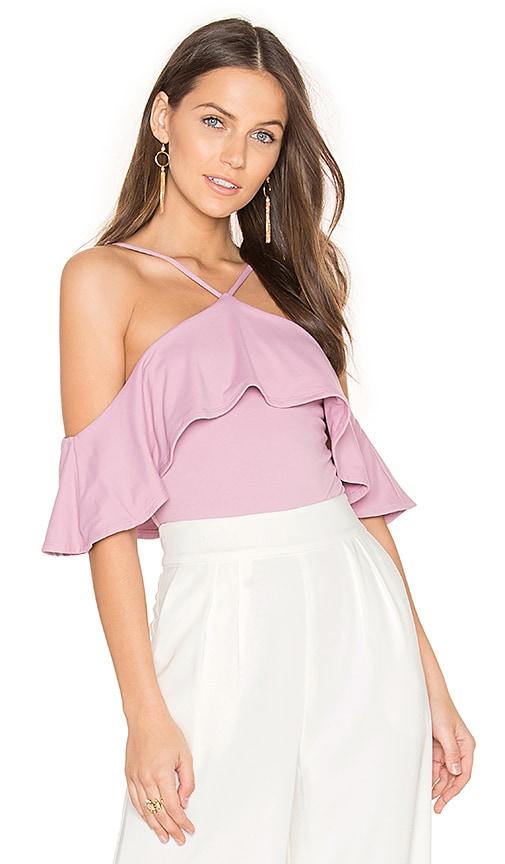 Susana Monaco Ruffle Top in Pink