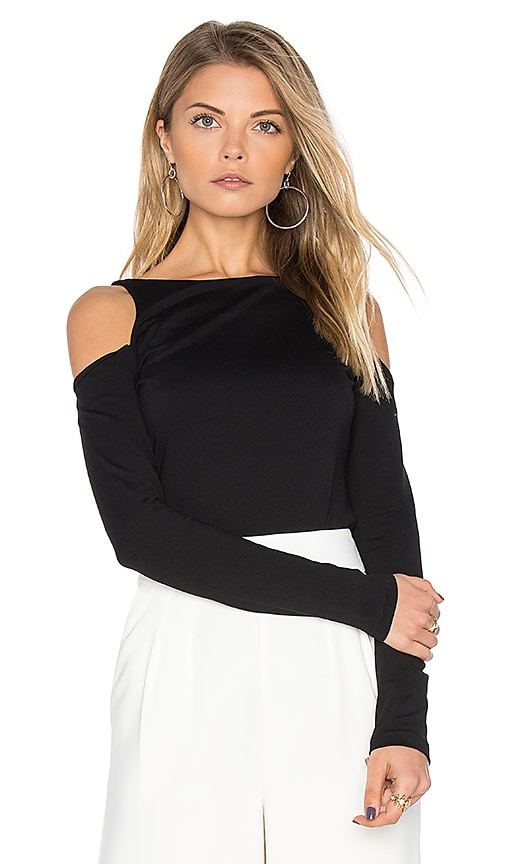 Susana Monaco Avery Long Sleeve Top in Black