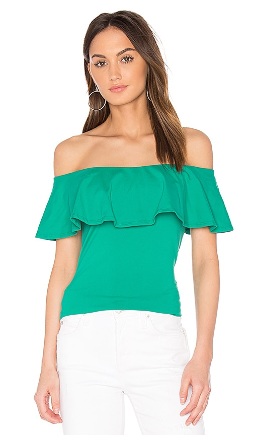 ae625db60da5b Ruffle Off Shoulder Top. Ruffle Off Shoulder Top. Susana Monaco