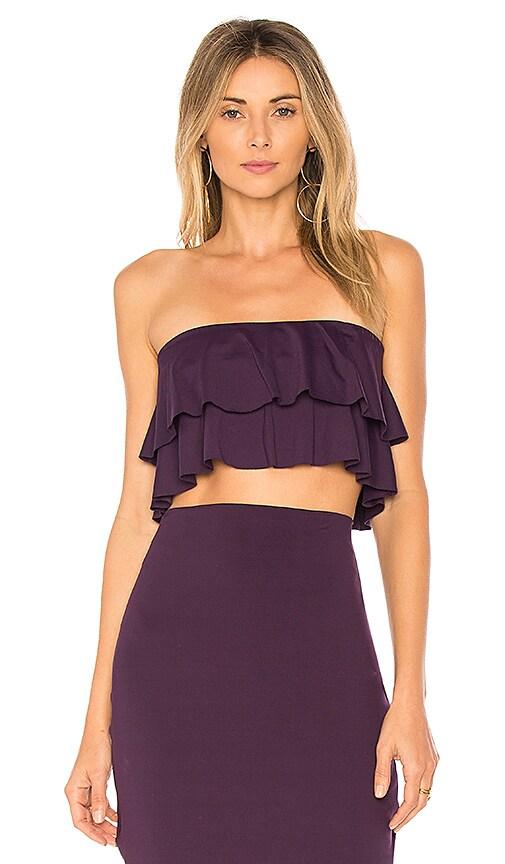 Susana Monaco Flora Ruffle Top in Purple