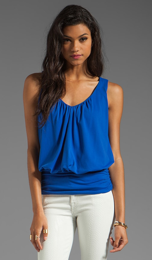 Light Supplex Gathered V Sleeveless Top