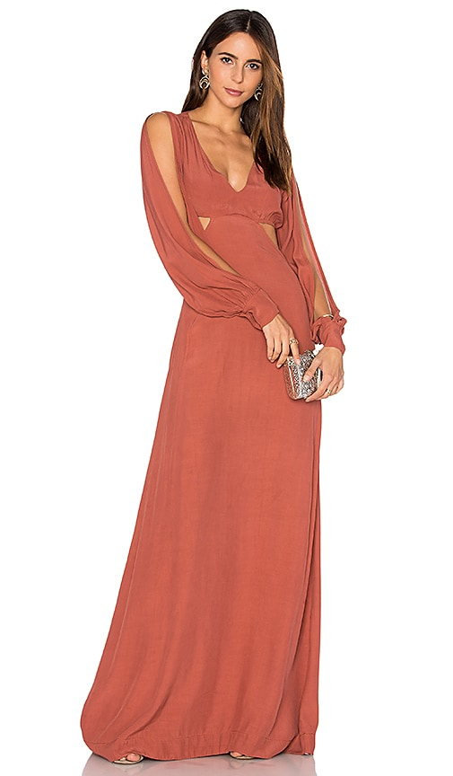SWF Olympia Maxi Dress in Brick