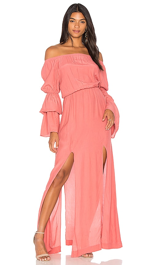 SWF Maddy Maxi Dress in Coral