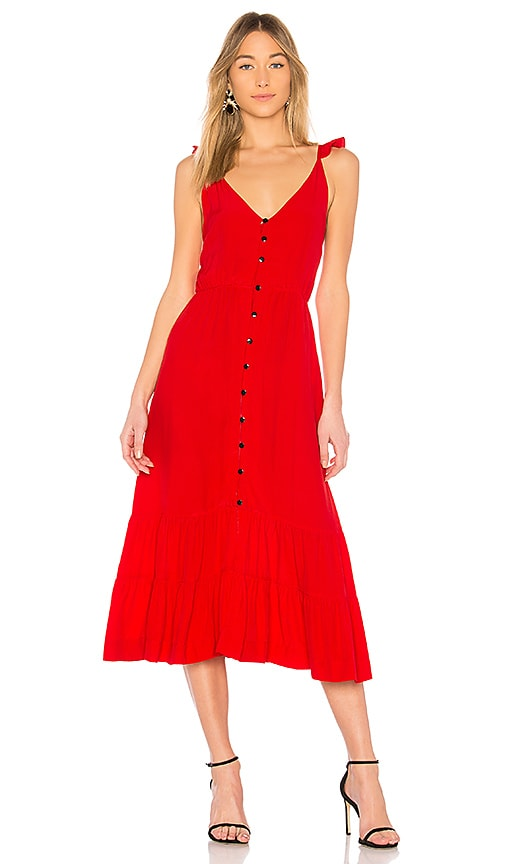 SWF Asher Midi Dress in Red
