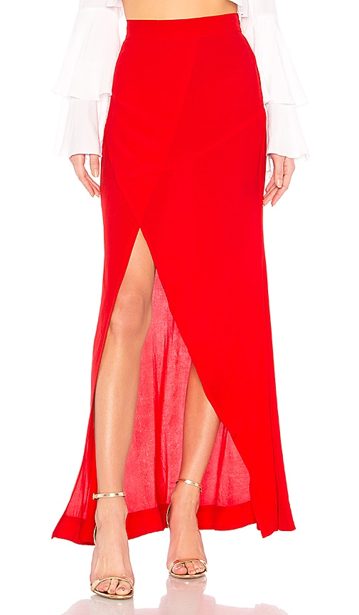 SWF Pearl Maxi Skirt in Red