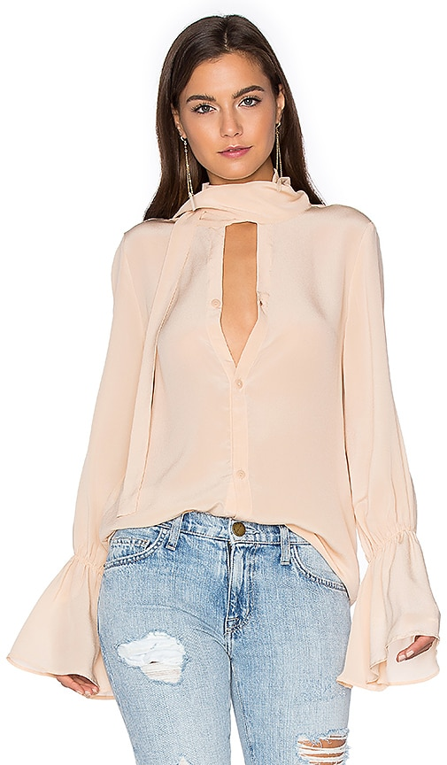 SWF Savannah Silk Blouse in Beige