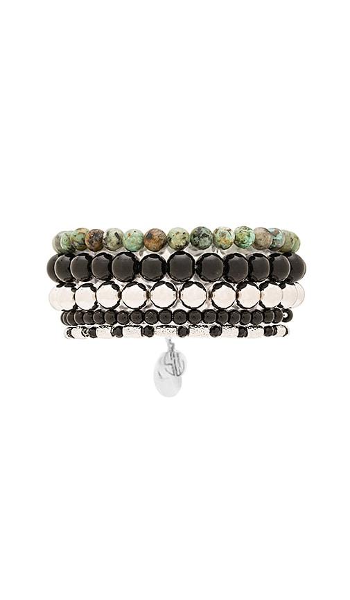 Samantha Wills Magnetic Rhythm Bracelet Set in Black Onyx