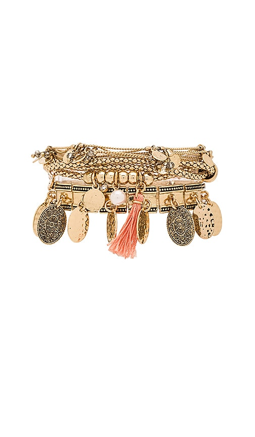 Samantha Wills Hunter & Gatherer Bracelet Set in Metallic Gold
