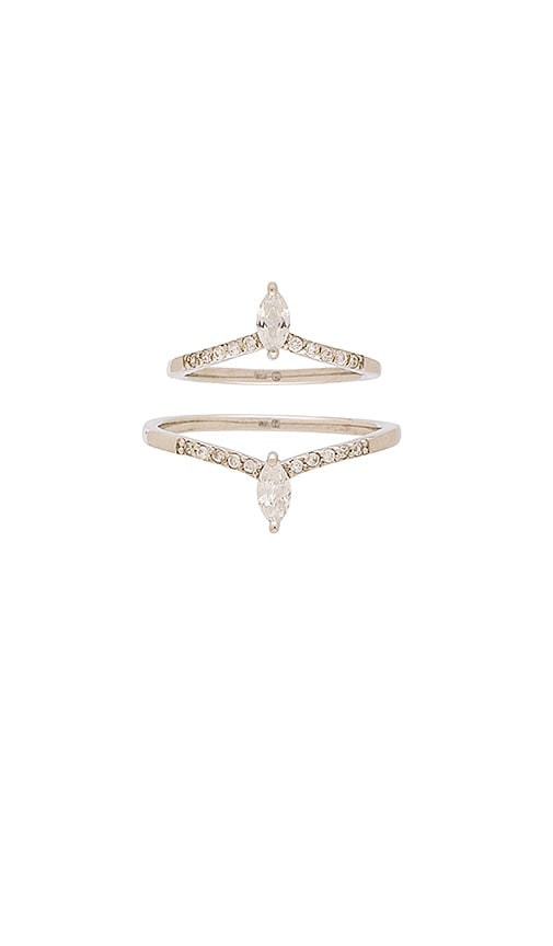Samantha Wills Gold Dust Nights Ring Set in Silver