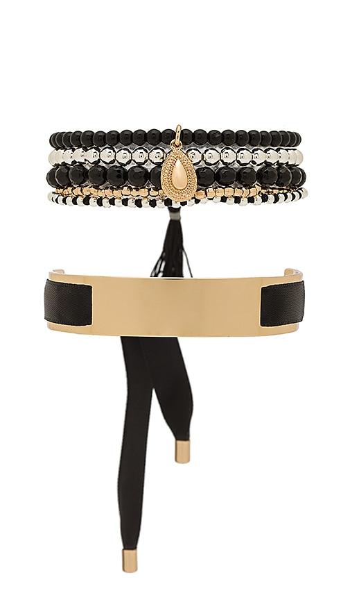 Samantha Wills Hand Over Love Bracelet Set in Metallic Gold