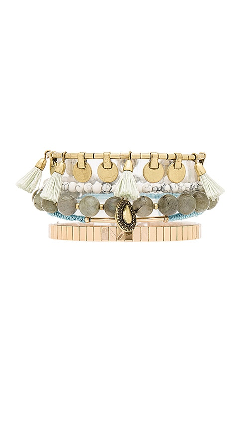 Samantha Wills Heart Wonder Bracelet Set in Metallic Gold