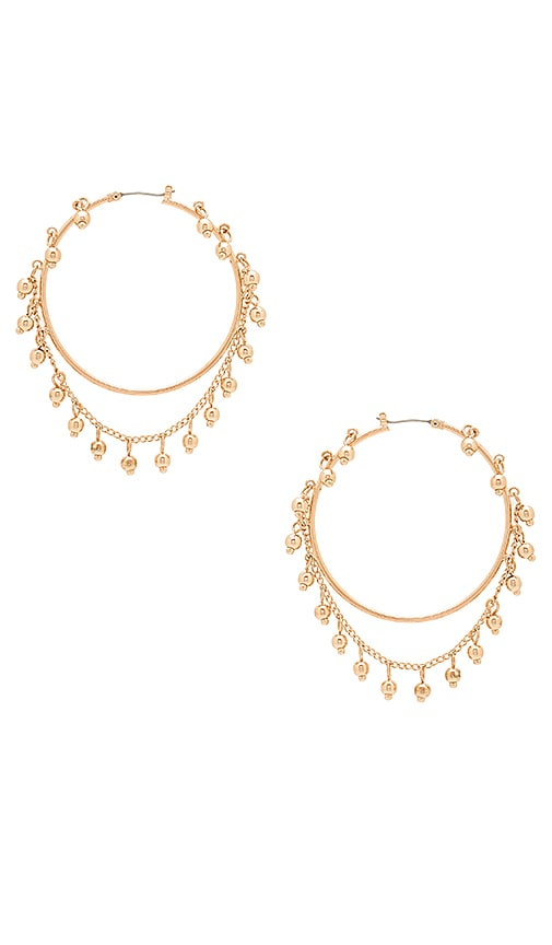 Samantha Wills Nightfall Hoop Earrings in Metallic Gold