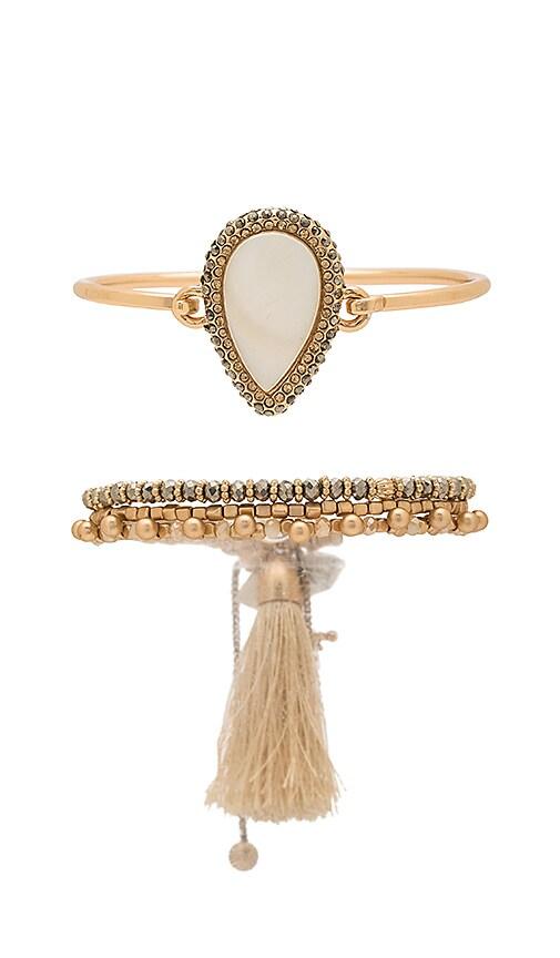 Samantha Wills Under the Sun Bracelet Set in Metallic Gold