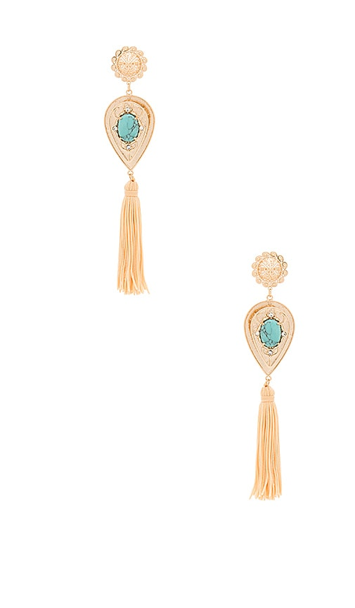 Samantha Wills Nightfall Lustre Large Drop Earrings in Metallic Gold