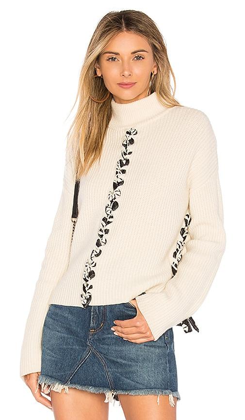 Tabula Rasa Mughal Lace Up Sweater in Cream
