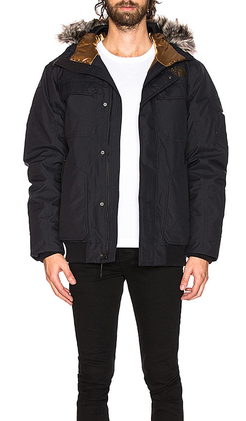 The North Face Gotham Jacket Iii In Tnf Black Metallic Copper