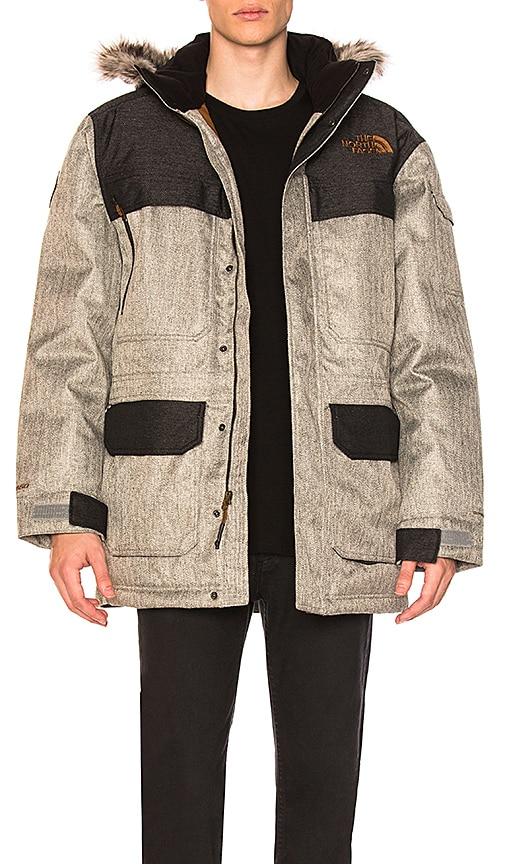 The North Face McMurdo Parka III With Faux Fur Trim in Gray