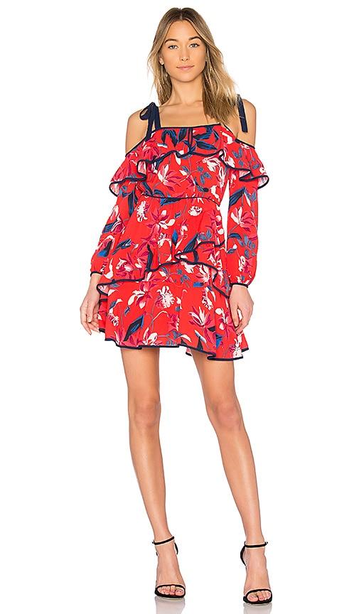 Tanya Taylor Doralee Dress in Red