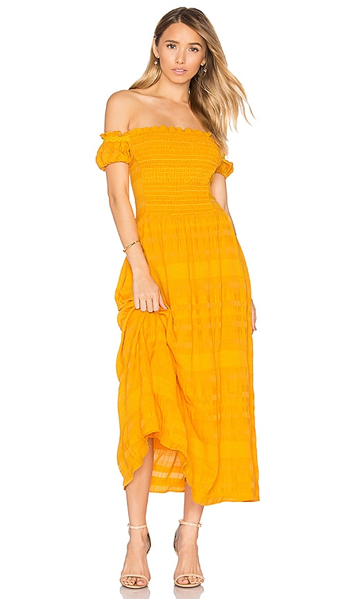 Tanya Taylor Zanna Dress in Yellow