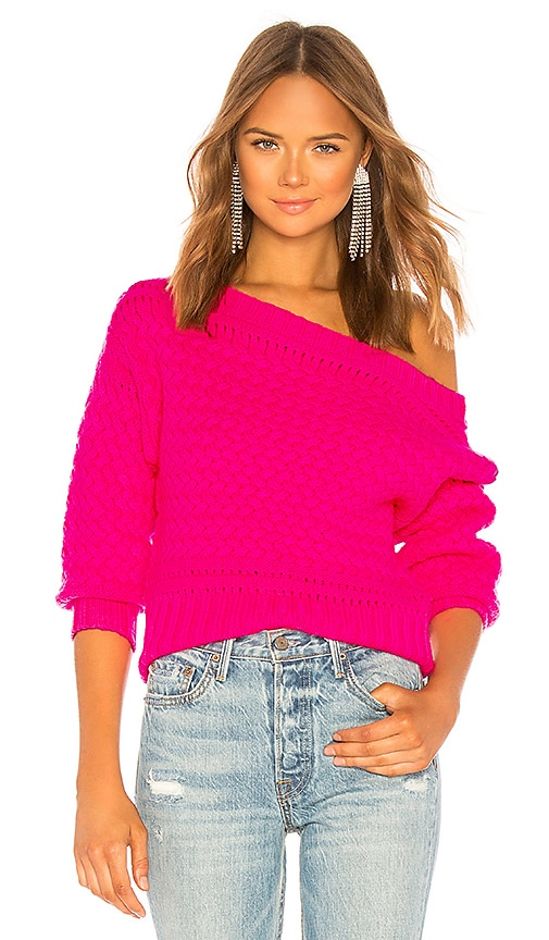 6cba99281faf Tanya Taylor Marie Sweater in Hot Pink
